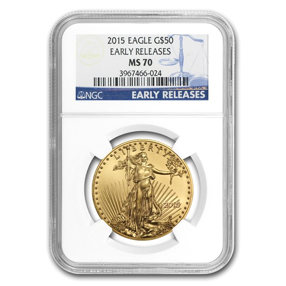 2015 1 oz American Gold Eagle MS-70 NGC (Early Releases)