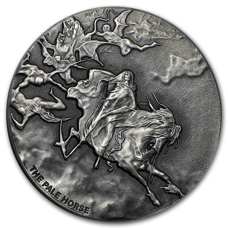 2015 2 oz Silver Coin - Biblical Series (Pale Horse)