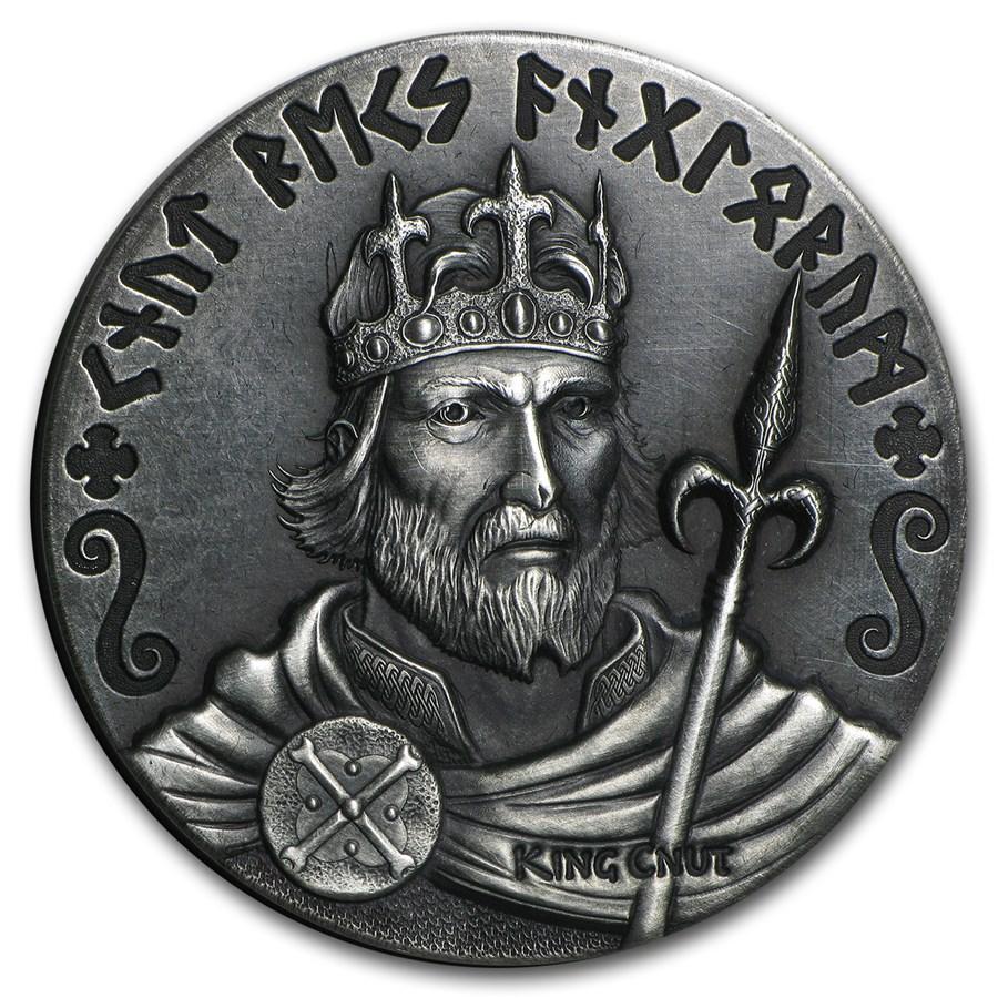2015 2 oz Silver Coin Viking Series (King Cnut)