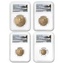 2015 4-Coin American Gold Eagle Set MS-70 NGC (FDI - Eagle)