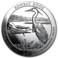 2015 5 oz Silver ATB Bombay Hook National Wildlife Refuge, DE