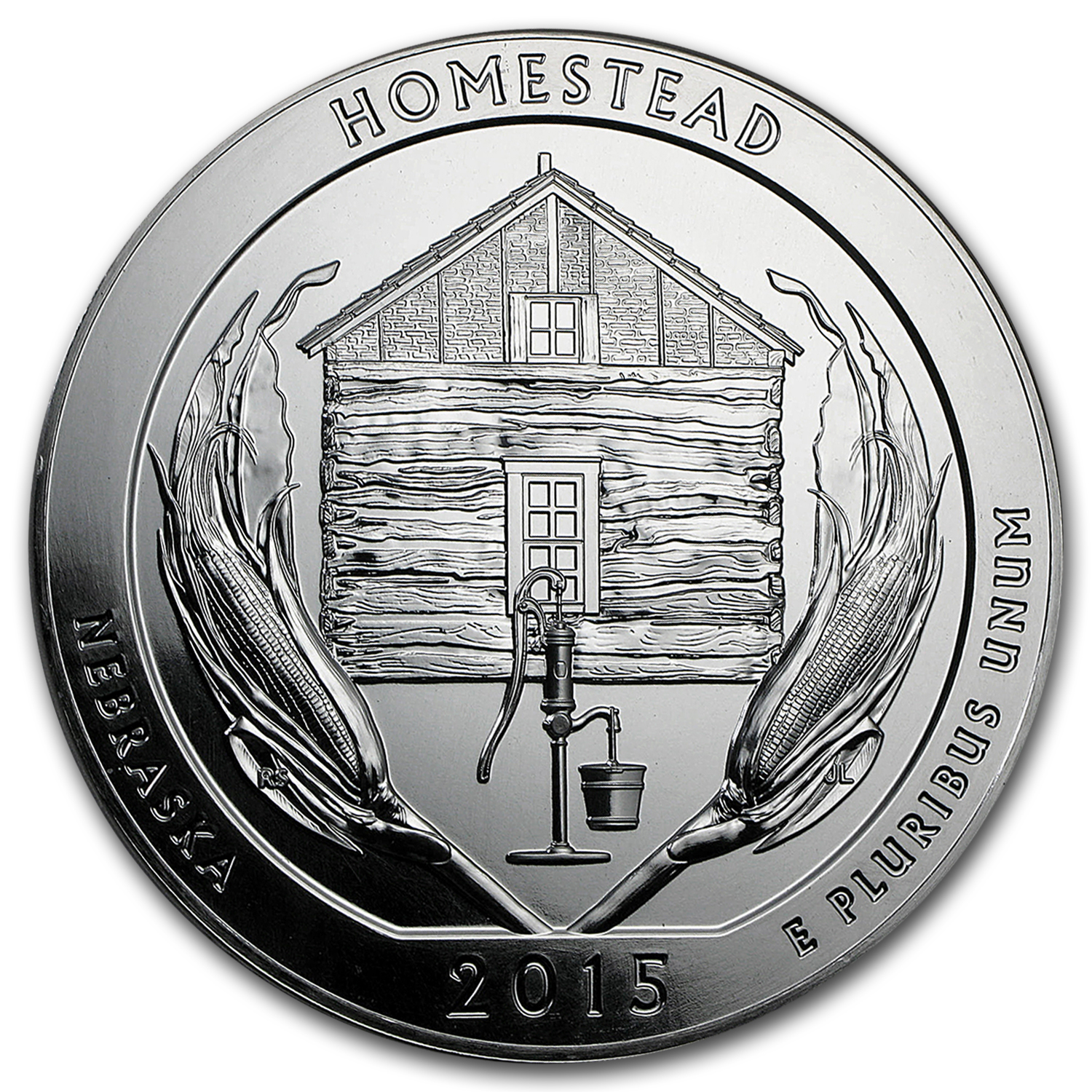 2015 5 oz Silver America the Beautiful ATB Nebraska Homestead National