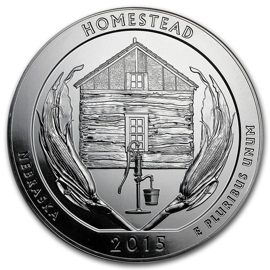 2015 5 oz Silver ATB Homestead National Park, NE