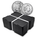 2015 500-Coin 1 oz Silver Britannia Monster Box BU