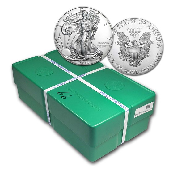 2015 500-Coin American Silver Eagle Monster Box (Sealed)