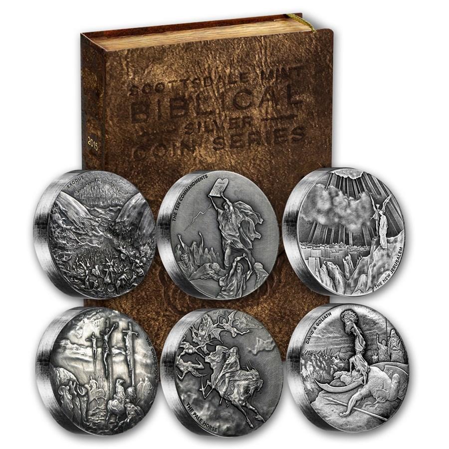 2015 6-Coin Silver Set - Biblical Series (Random Serial #'s)