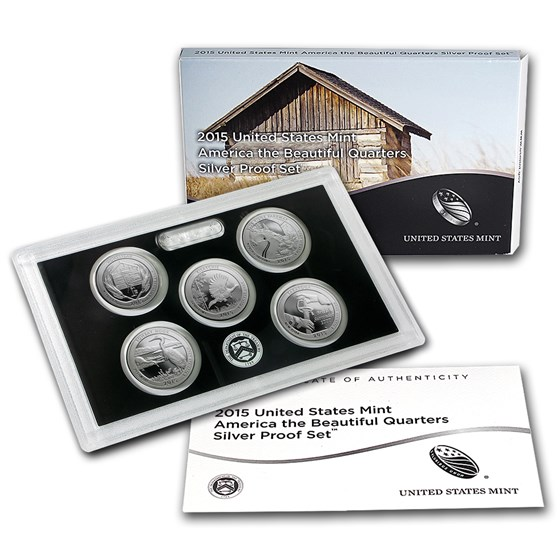 2015 America the Beautiful Quarters Silver Proof Set