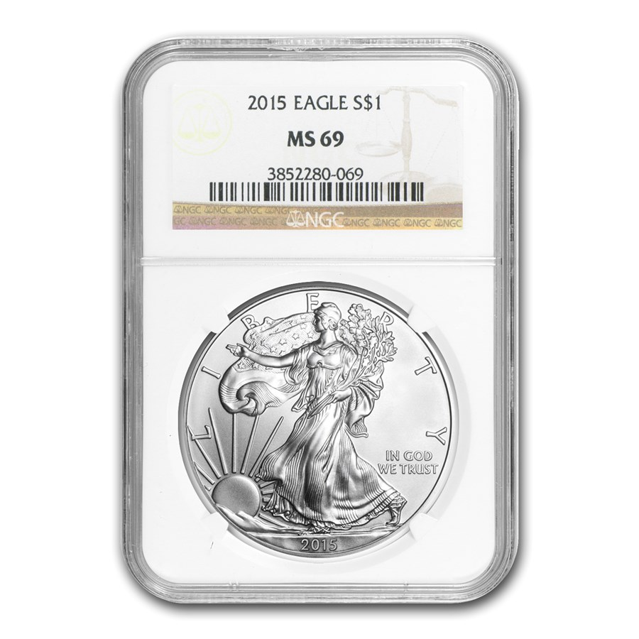 2015 American Silver Eagle MS-69 NGC