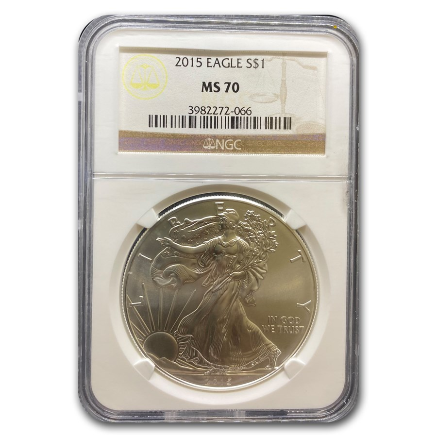2015 American Silver Eagle MS-70 NGC