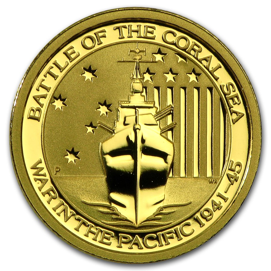 2015 Australia 1/10 oz Gold Battle of the Coral Sea BU