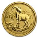 2015 Australia 1/20 oz Gold Lunar Goat BU