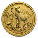 2015 Australia 1/4 oz Gold Lunar Goat BU