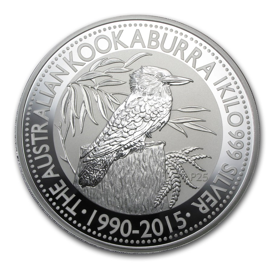 2015 Australia 1 kilo Silver Kookaburra BU