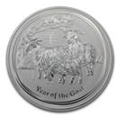 2015 Australia 1 kilo Silver Lunar Goat BU