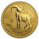 2015 Australia 1 oz Gold Lunar Goat BU (Series II)