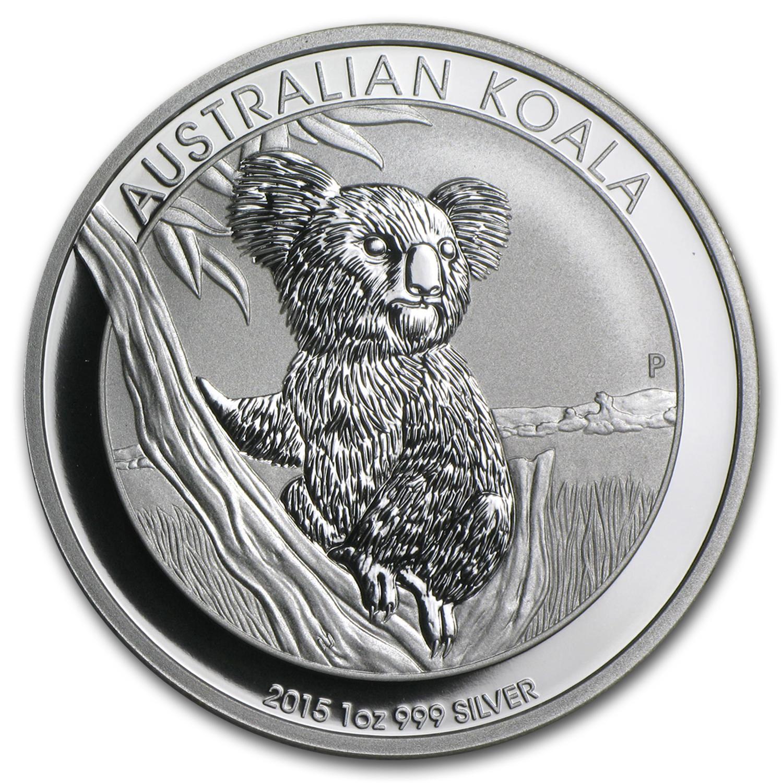 2015 Australian Koala 1oz .999 Fine Silver BU Coin