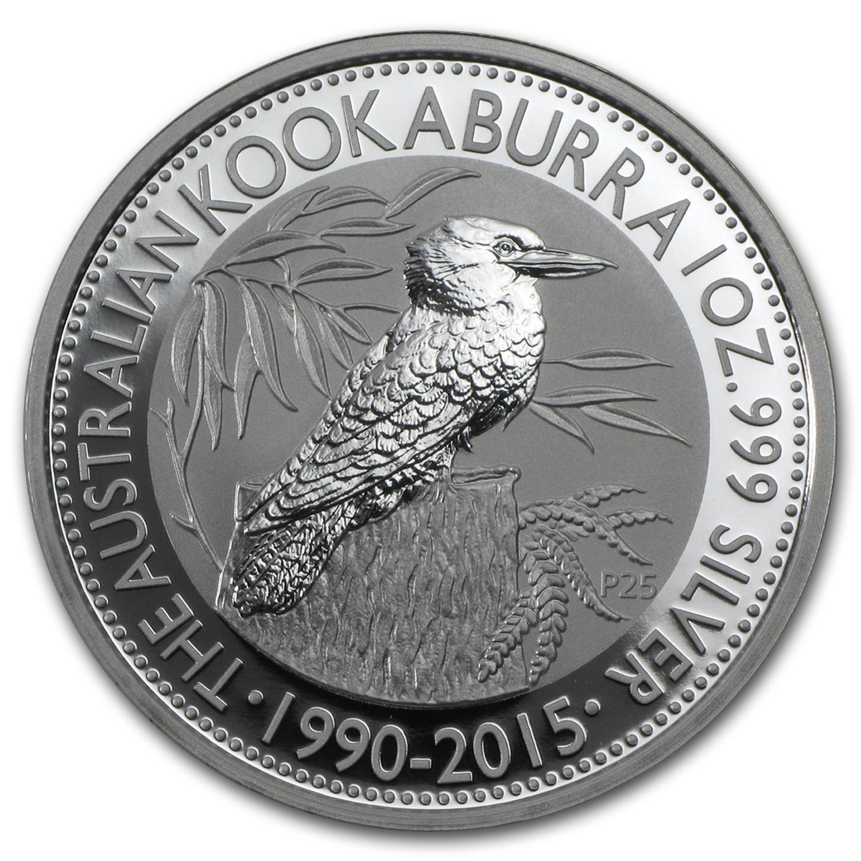 2015 Australian Kookaburra $1 1 oz Silver Bullion Coin .999 Fine Dollar round