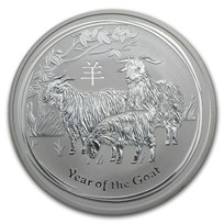 2015 Australia 1 oz Silver Lunar Goat BU (Series II)
