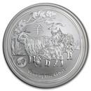 2015 Australia 1 oz Silver Lunar Goat BU (SII, Lion Privy)