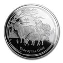 2015 Australia 1 oz Silver Lunar Goat Proof (w/Box & COA)