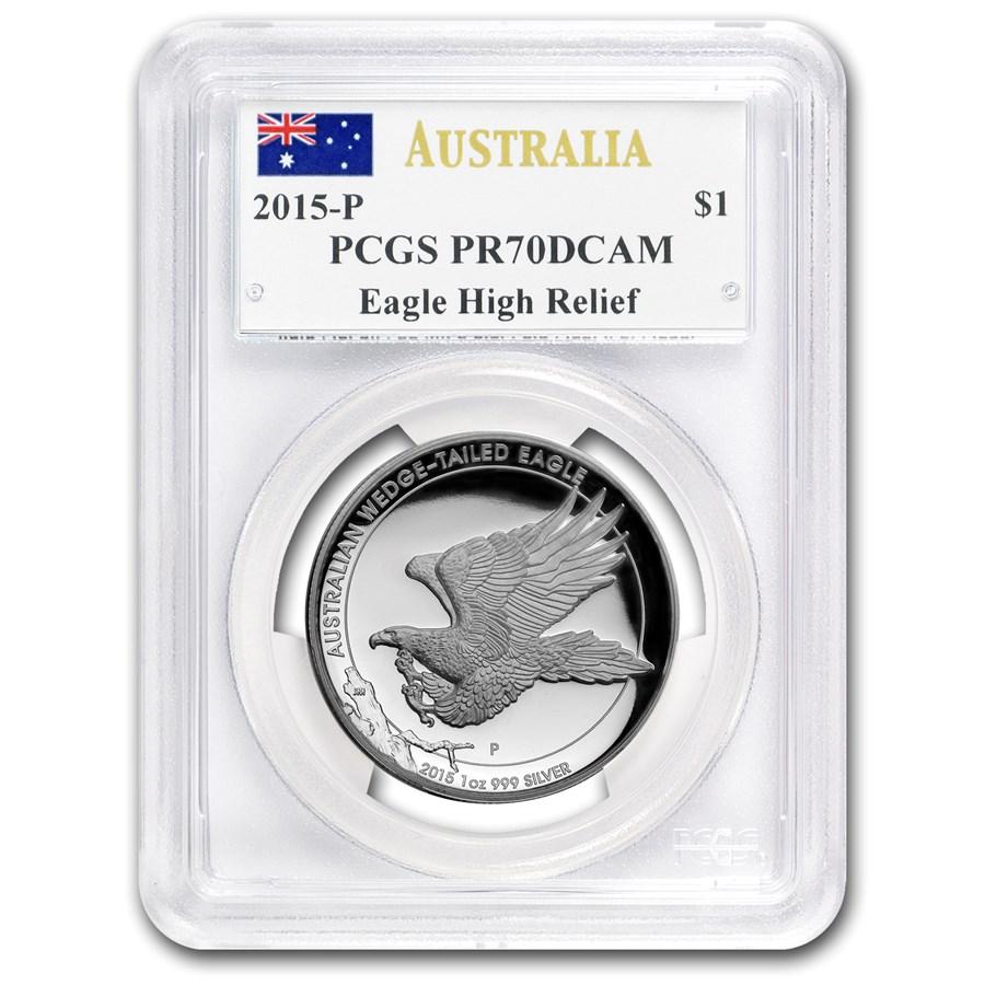 2015 Australia 1 oz Silver Wedge-Tailed Eagle PR-70 PCGS (HR)