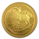 2015 Australia 10 oz Gold Lunar Goat BU