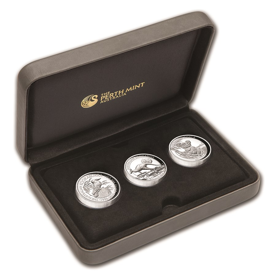 2015 Australia 3-Coin 1 oz Silver High Relief Proof Set