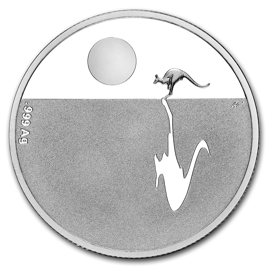 2015 Australia Silver $1 Kangaroo at Sunset
