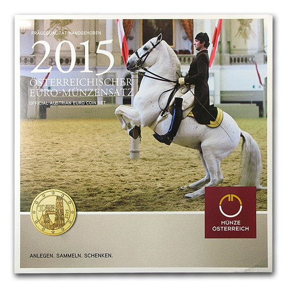 2015 Austria 450th Ann. Spanish Riding School Coin Set