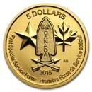 2015 Canada 1/10 oz Gold $5 Special Service Force BU