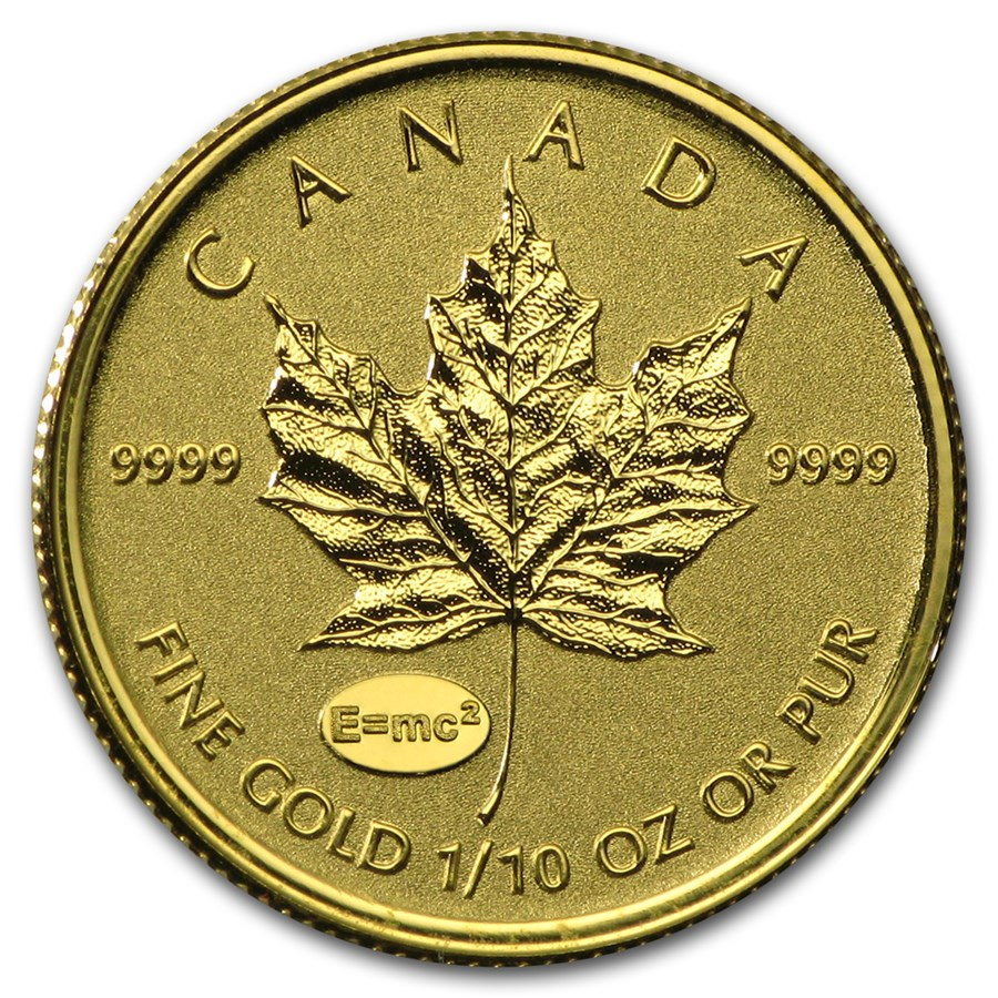 2015 Canada 1/10 oz Gold Maple Theory of Relativity Privy