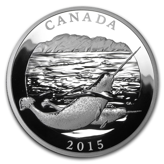 2015 Canada 1/2 kilo Proof Silver $125 Narwhal