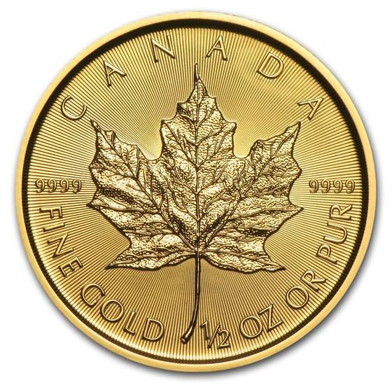2015 Canada 1/2 oz Gold Maple Leaf BU