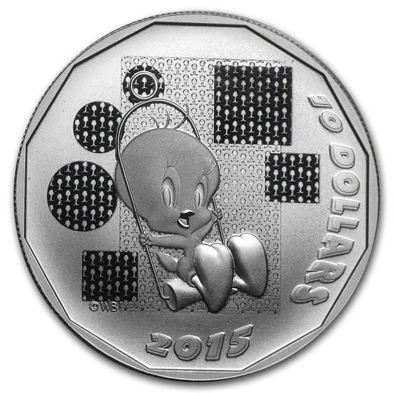 2015 Canada 1/2 oz Silver $10 Looney Tunes Tweety