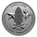 2015 Canada 1/2 oz Silver $2 Devil's Brigade BU
