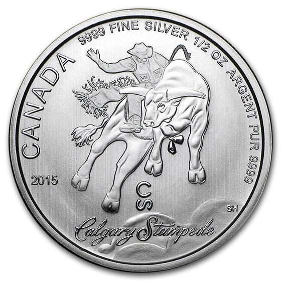 2015 Canada 1/2 oz Silver Calgary Stampede BU