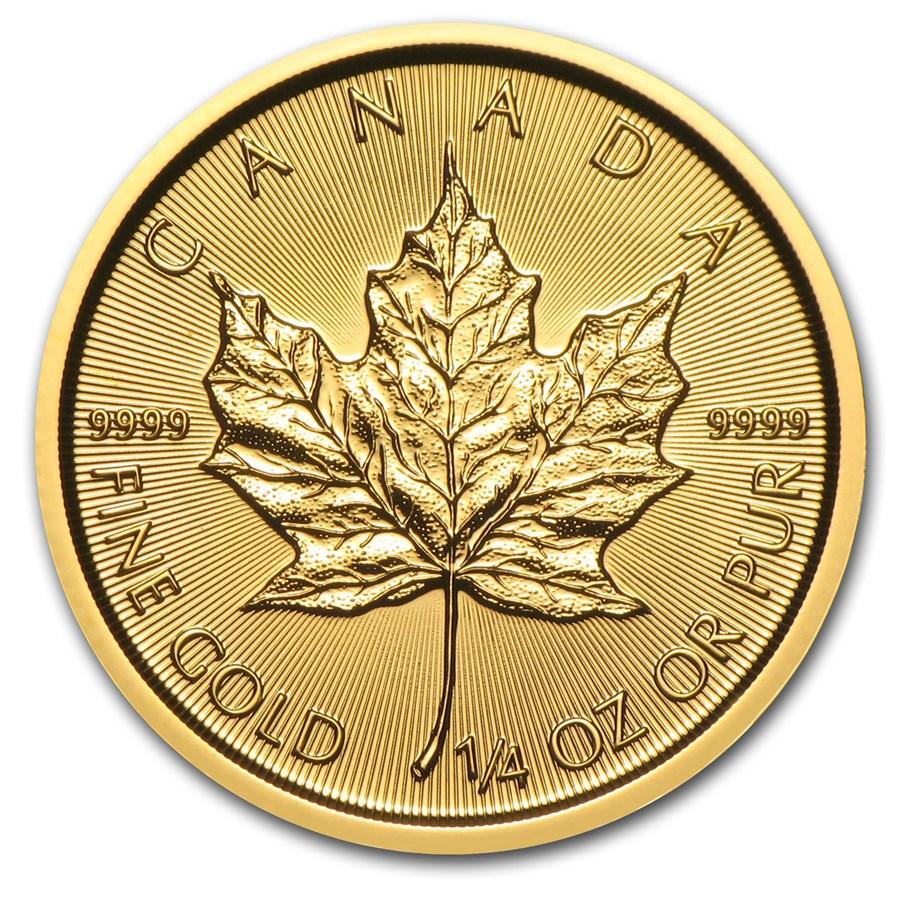 2015 Canada 1/4 oz Gold Maple Leaf BU