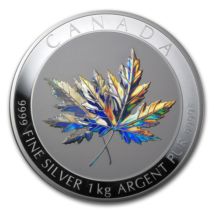 2015 Canada 1 kilo Silver $250 Maple Leaf Forever