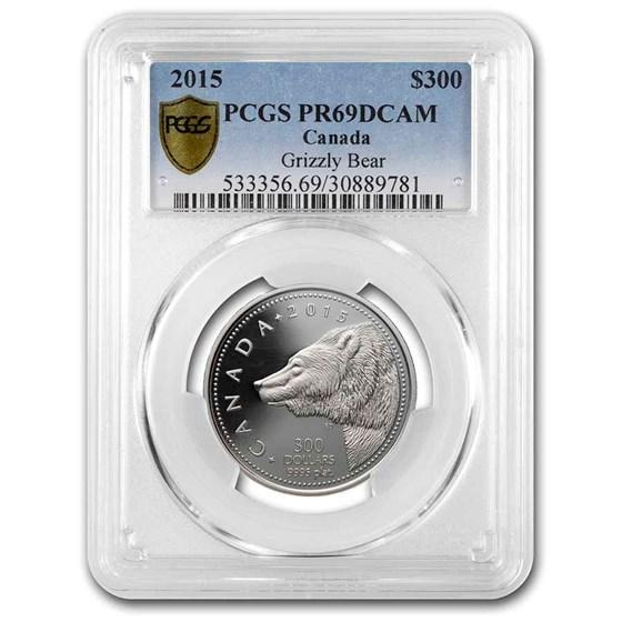 2015 Canada 1 oz Proof Platinum $300 Grizzly Bear PR-69 PCGS