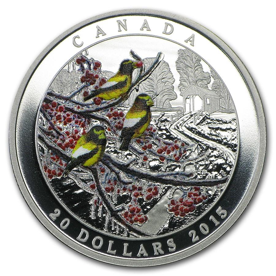 2015 Canada 1 oz Silver $20 Weather Phenomenon: Winter Freeze
