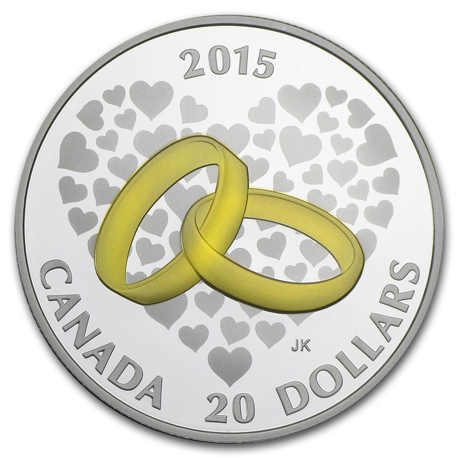 2015 Canada 1 oz Silver $20 Wedding Proof