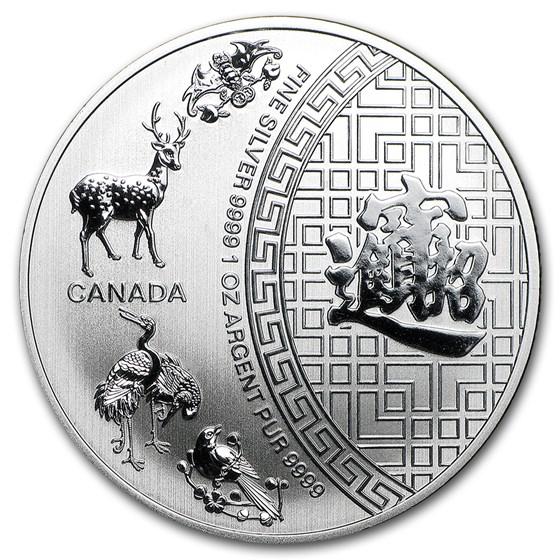 2015 Canada 1 oz Silver $5 Five Blessings BU