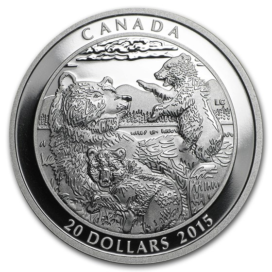 2015 Canada 1 oz Silver Grizzly Bear Clan