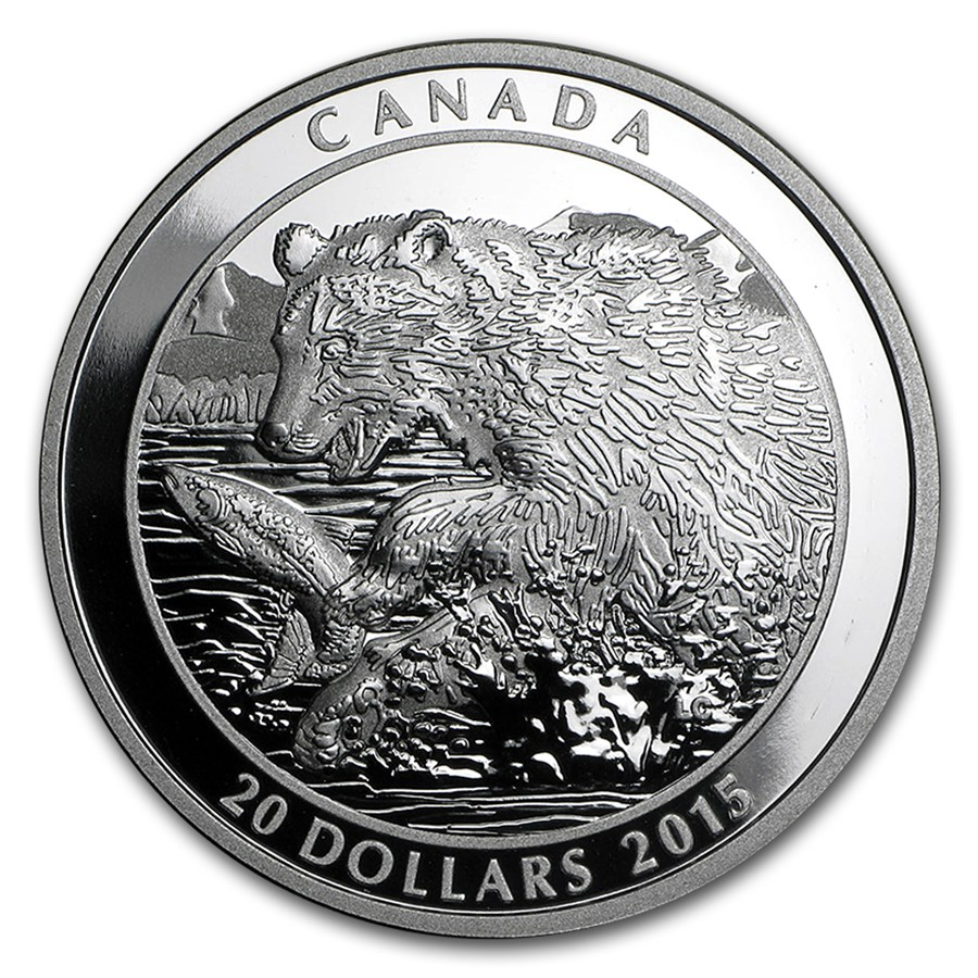 2015 Canada 1 oz Silver Grizzly The Catch