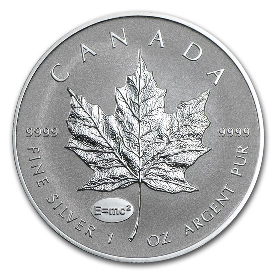 2015 Canada 1 oz Silver Maple Leaf Einstein Privy Reverse Proof