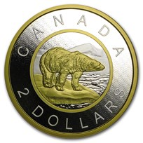2015 Canada 5 oz Silver Polar Bear Big Coin Series Prf ($2 Coin)