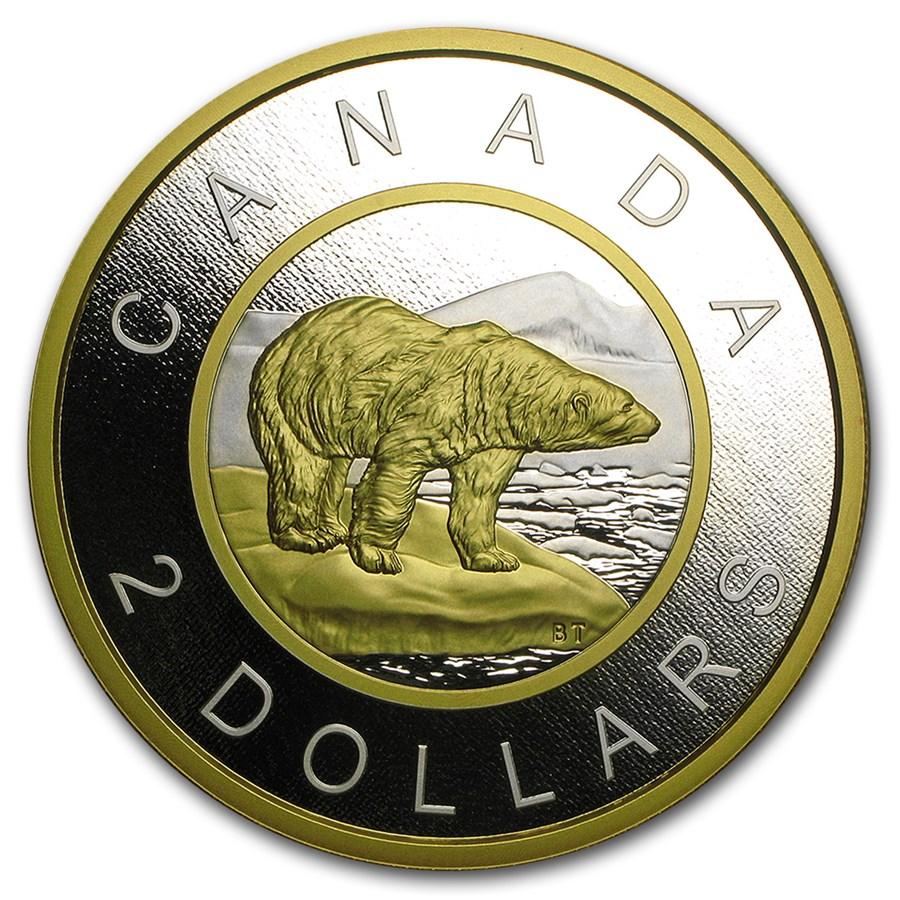 2015 Canada 5 oz Silver Polar Bear Big Coin Series Prf ($2 Coin)