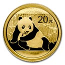 2015 China 1/20 oz Gold Panda BU (Sealed)