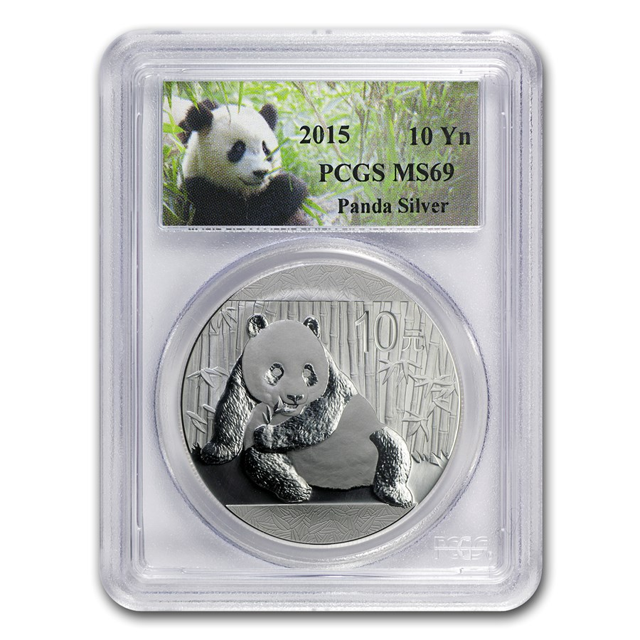 2015 China 1 oz Silver Panda MS-69 PCGS