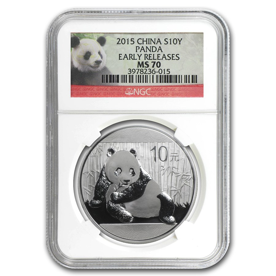 2015 China 1 oz Silver Panda MS-70 NGC (Early Releases)